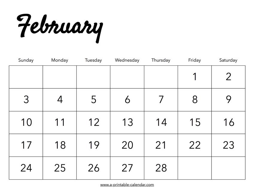 February Calendar 2019 Png 2019 February Calendar