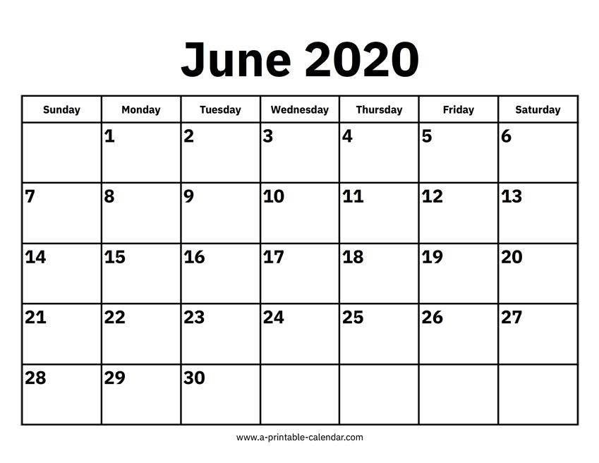 June 2020 Calendar Printable.June 2020 Calendar