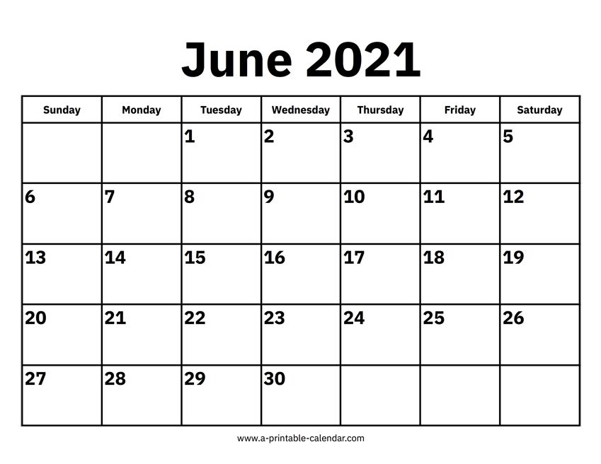 June 2021 Calendars – Printable Calendar 2021