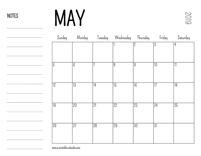 photograph regarding Printable May Calendars identify May possibly 2019 Printable Calendar