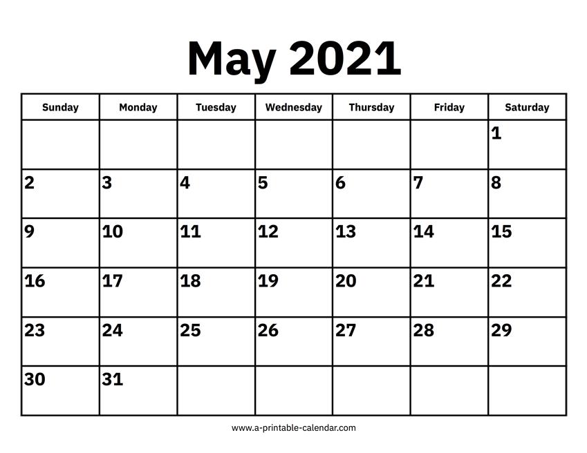 May 2021 Calendars – Printable Calendar 2021