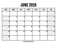 June 2019 Calendars – Printable Calendar 2019