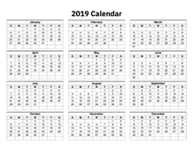 Printable Calendar 2019 - Simple & Useful Printable Calendars