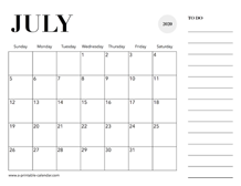 July 2020 Calendars – Printable Calendar 2020