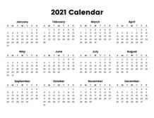 Pictures of Mini Printable Calendar 2021