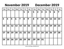 April And May 2019 Calendar – Printable Calendar 2019