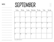 September 2020 Calendars – Printable Calendar 2020